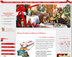 Page d'accueil de Etapes Cadeaux