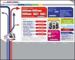 Page d'accueil de Eurolines
