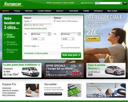 Page d'accueil de Europcar