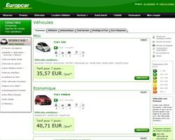 Une fiche produit de Europcar