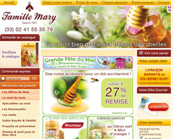 Page d'accueil de Famille Mary