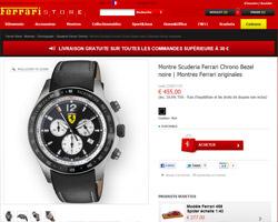 Une fiche produit de Ferrari Store