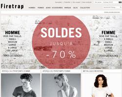 Page d'accueil de Firetrap