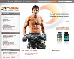 Page d'accueil de Fitadium