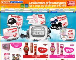 Page d'accueil de FlashMarques