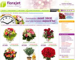 Page d'accueil de Florajet