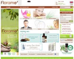 Page d'accueil de Florame