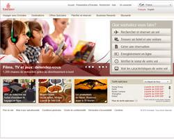 Page d'accueil de Fly Emirates