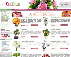 Page d'accueil de Foliflora