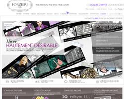 Page d'accueil de Forzieri