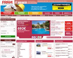 Page d'accueil de Fram