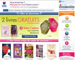 Page d'accueil de France Loisirs