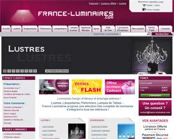 Page d'accueil de France Luminaires