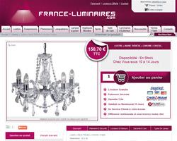 Une fiche produit de France Luminaires
