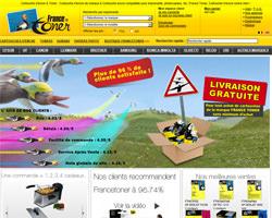 Page d'accueil de France Toner