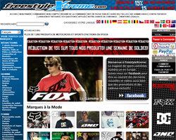 Page d'accueil de FreeStyle Xtreme