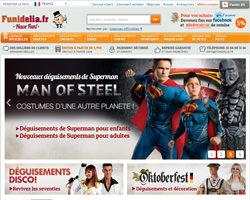 Page d'accueil de Funidelia