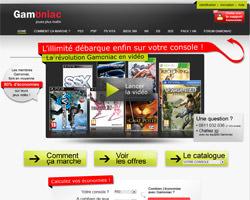 Page d'accueil de Gamoniac