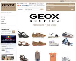 Page d'accueil de Geox