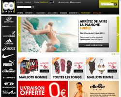 Page d'accueil de Go Sport