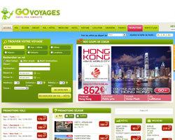 Page d'accueil de Go Voyages