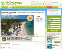 Une fiche produit de Go Voyages