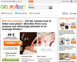 Page d'accueil de Groupolitan