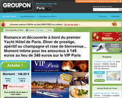 Page d'accueil de Groupon