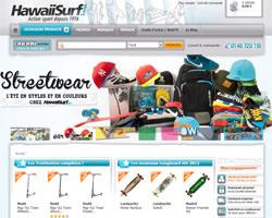 Page d'accueil de Hawaii Surf