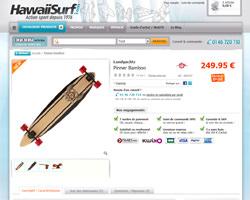 Une fiche produit de Hawaii Surf