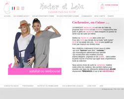 Page d'accueil de Hector & Lola