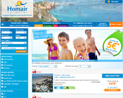 Page d'accueil de Homair