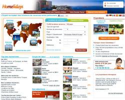 Page d'accueil de Homelidays