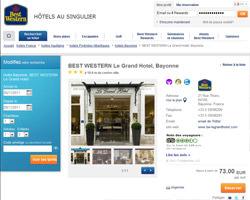 Une fiche produit de Hotel Best Western