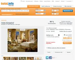 Une fiche produit de hotel.info