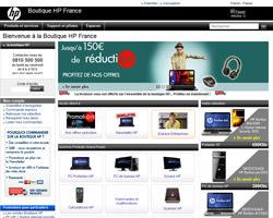 Page d'accueil de HP