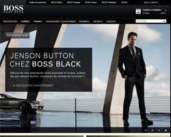 Page d'accueil de Hugo Boss