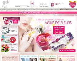 Page d'accueil de ID Parfums
