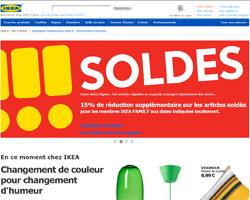 Page d'accueil de IKEA