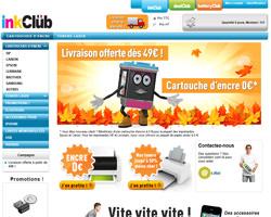 Page d'accueil de inkClub