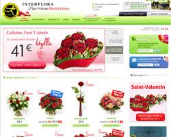 Page d'accueil de Interflora