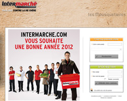 Page d'accueil de Intermarché