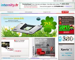 Page d'accueil de Internity