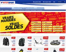 Page d'accueil de Intersport