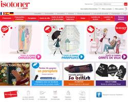 Page d'accueil de Isotoner