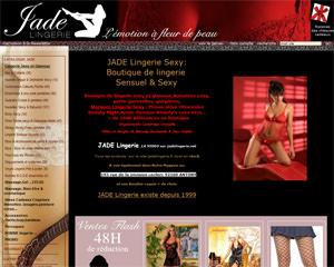 Page d'accueil de Jade Lingerie