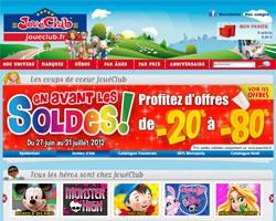 Page d'accueil de JouéClub