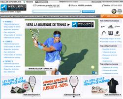 Page d'accueil de Keller Sports