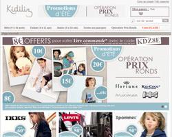 Page d'accueil de Kidiliz