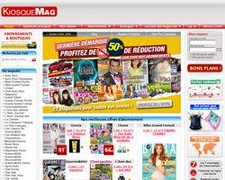 Page d'accueil de KiosqueMag
